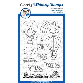 Whimsy Stamps HAPPY SKY Clear Stamps CWSD299