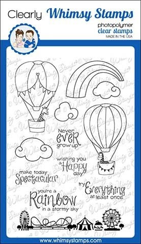 Whimsy Stamps HAPPY SKY Clear Stamps CWSD299 zoom image