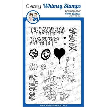 Whimsy Stamps GRAFFITI GIRL Clear Stamps CWSD298