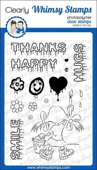 Whimsy Stamps GRAFFITI GIRL Clear Stamps CWSD298 zoom image
