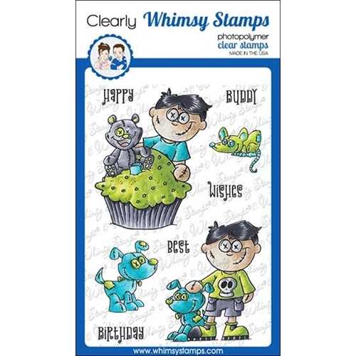 Whimsy Stamps GOTH DOLL BOY Clear Stamps DP1038 Preview Image
