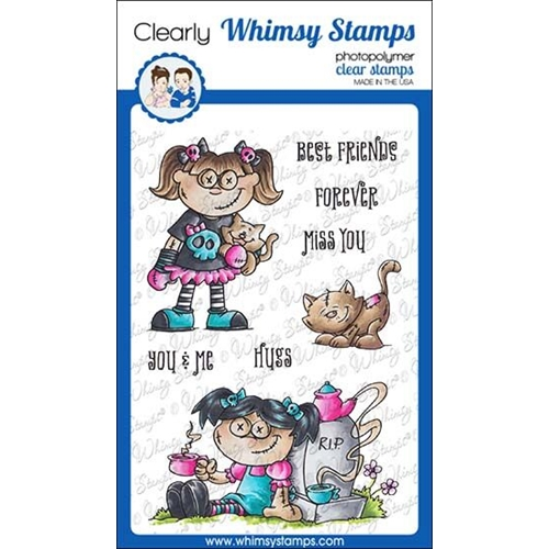 Whimsy Stamps GOTH DOLL GIRL Clear Stamps DP1039 Preview Image