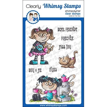 Whimsy Stamps GOTH DOLL GIRL Clear Stamps DP1039