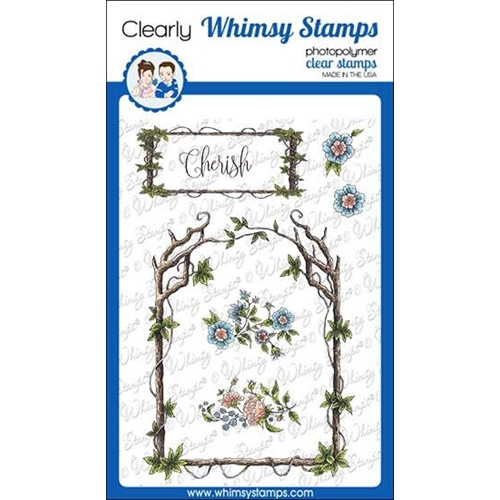 Whimsy Stamps ELEGANT WOODEN FRAMES Clear Stamps DA1136 Preview Image
