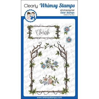 Whimsy Stamps ELEGANT WOODEN FRAMES Clear Stamps DA1136