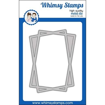 Whimsy Stamps CONNECT RECTANGLE FRAME Dies WSD439