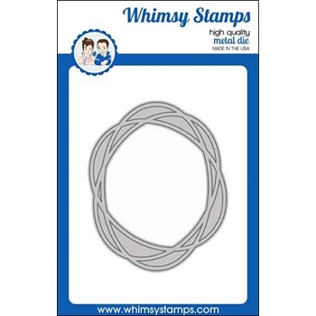 Whimsy Stamps CONNECT OVAL FRAME Dies WSD440