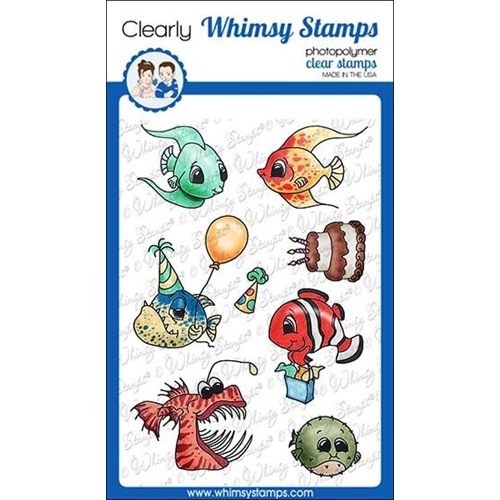 Whimsy Stamps BEST FISHES Clear Stamps C1309 Preview Image