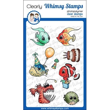 Whimsy Stamps BEST FISHES Clear Stamps C1309