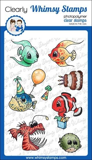 Whimsy Stamps BEST FISHES Clear Stamps C1309 zoom image