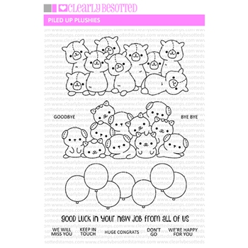 Clearly Besotted PILED UP PLUSHIES Clear Stamps