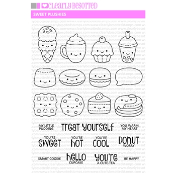 Clearly Besotted SWEET PLUSHIES Clear Stamps