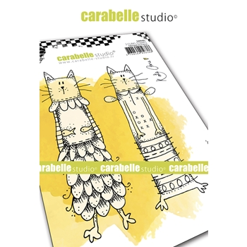 Carabelle Studio KOOKY CATS Cling Stamps sa60481
