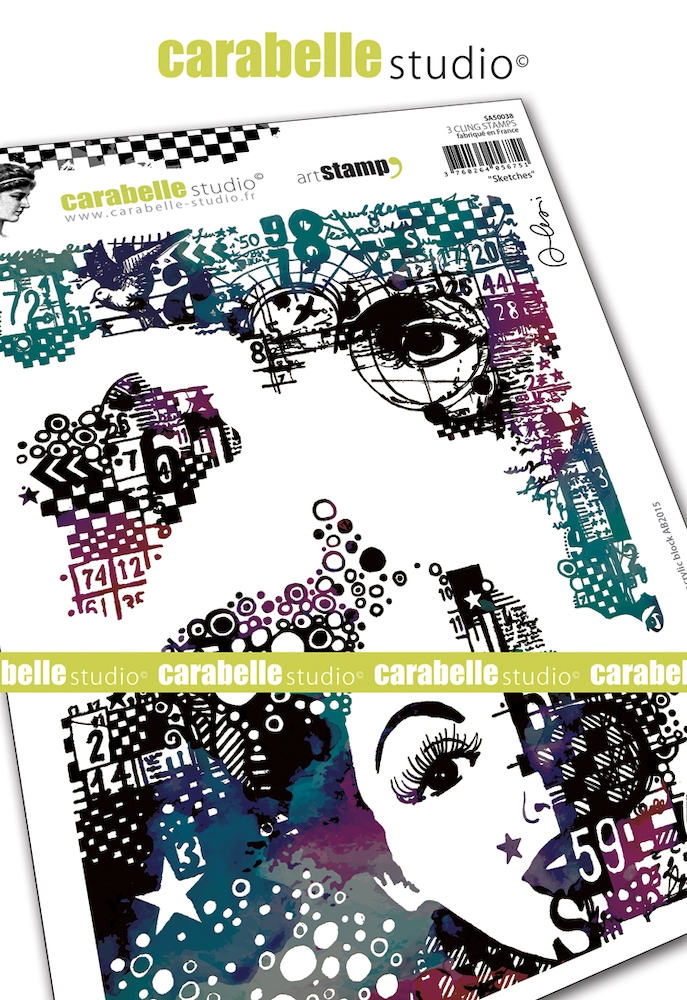 Carabelle Studio SKETCHES Cling Stamps sa50038 zoom image