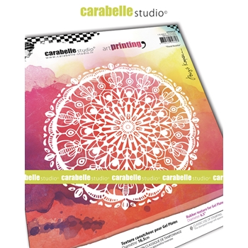 Carabelle Studio FLORAL ROSETTE Art Printing Texture Plate Round apro60028