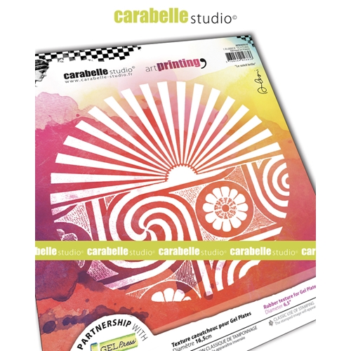 Carabelle Studio THE SUN SHINES Art Printing Texture Plate Round apro60030 Preview Image