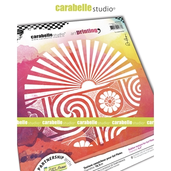 Carabelle Studio THE SUN SHINES Art Printing Texture Plate Round apro60030