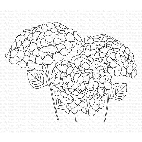 My Favorite Things HYDRANGEAS IN BLOOM Clear Stamps cs459 Preview Image