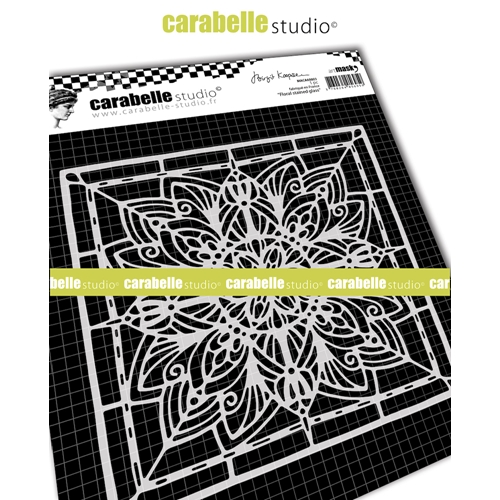 Carabelle Studio FLORAL STAINED GLASS 6x6 Square Mask Stencil maca60003 Preview Image