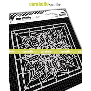 Carabelle Studio FLORAL STAINED GLASS 6x6 Square Mask Stencil maca60003
