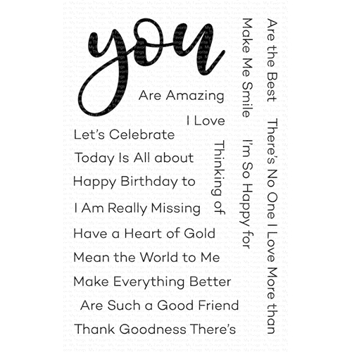 My Favorite Things ALL ABOUT YOU Clear Stamps cs466 Preview Image