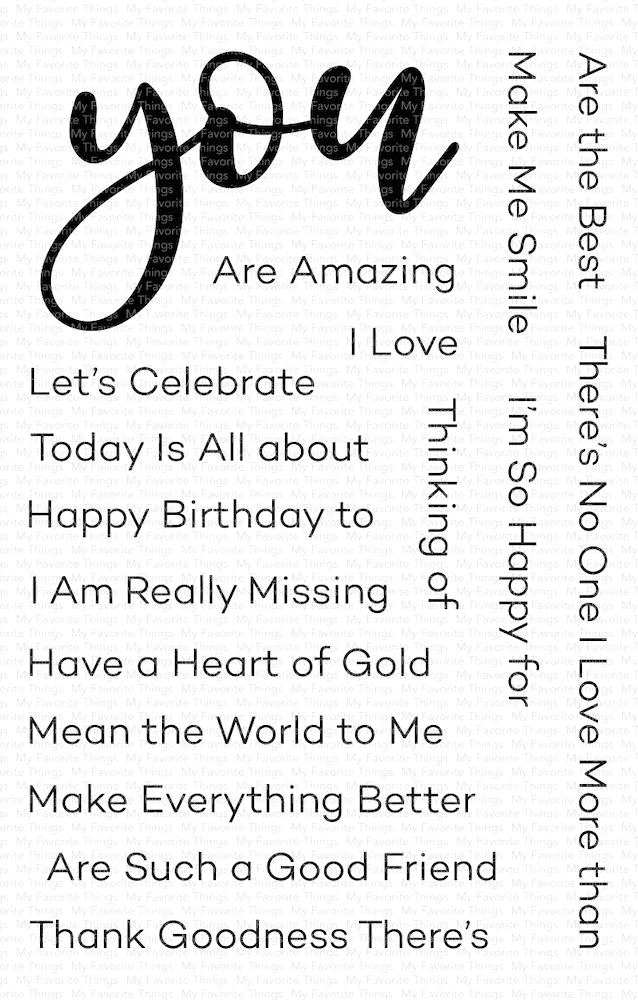 My Favorite Things ALL ABOUT YOU Clear Stamps cs466 zoom image