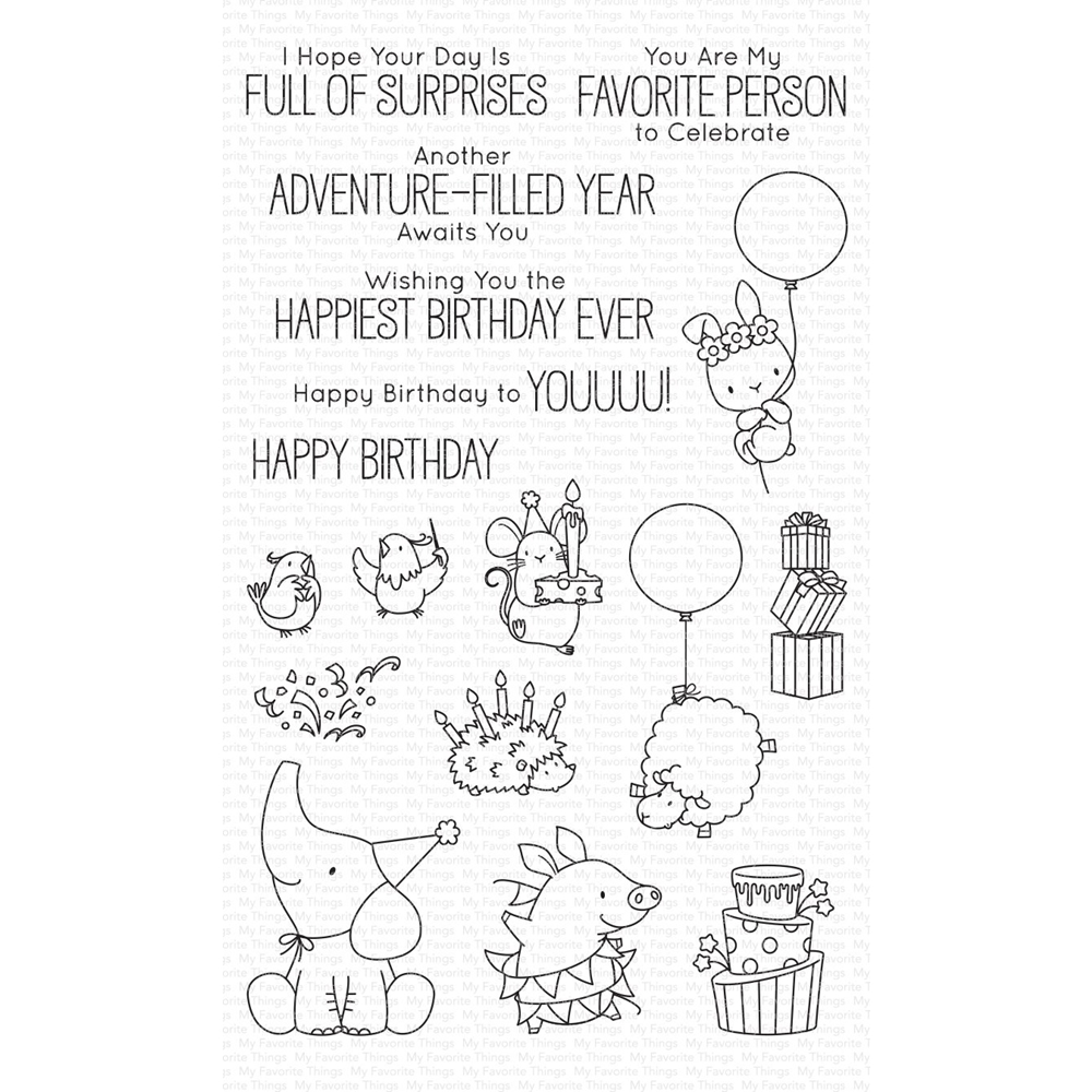 My Favorite Things BIRTHDAY BUDS Clear Stamps bb99 zoom image