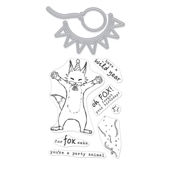 Hero Arts Stamp and Cuts PARTY FOX Set DC276