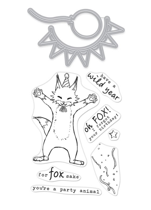 Hero Arts Stamp and Cuts PARTY FOX Set DC276 zoom image