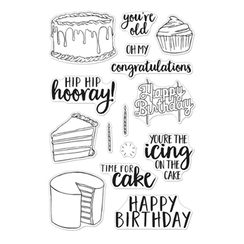 Hero Arts Clear Stamps TIME FOR CAKE CM440