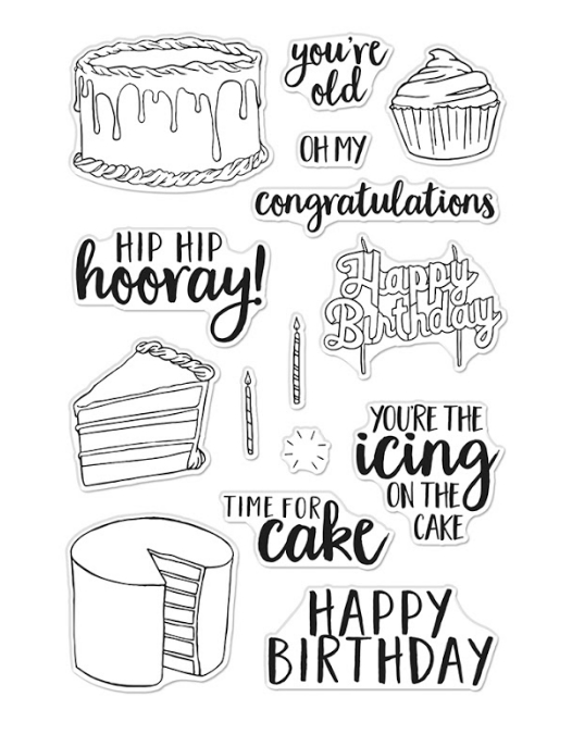 Hero Arts Clear Stamps TIME FOR CAKE CM440 zoom image