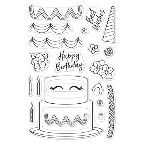 Hero Arts Clear Stamps DECORATE A CAKE CM438 Preview Image