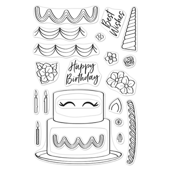 Hero Arts Clear Stamps DECORATE A CAKE CM438