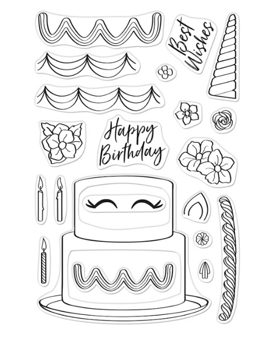 Hero Arts Clear Stamps DECORATE A CAKE CM438 zoom image