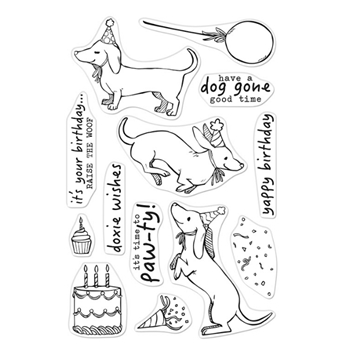 Hero Arts Clear Stamps BIRTHDAY PAW-TY CM439
