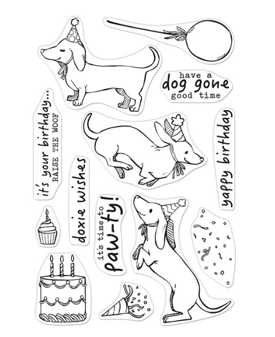 Hero Arts Clear Stamps BIRTHDAY PAW-TY CM439 zoom image