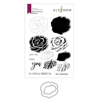 Altenew BUILD A FLOWER BEGONIA Clear Stamp ALT351