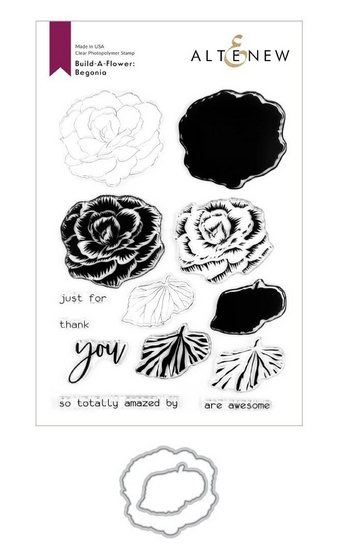 Altenew BUILD A FLOWER BEGONIA Clear Stamp ALT351 zoom image