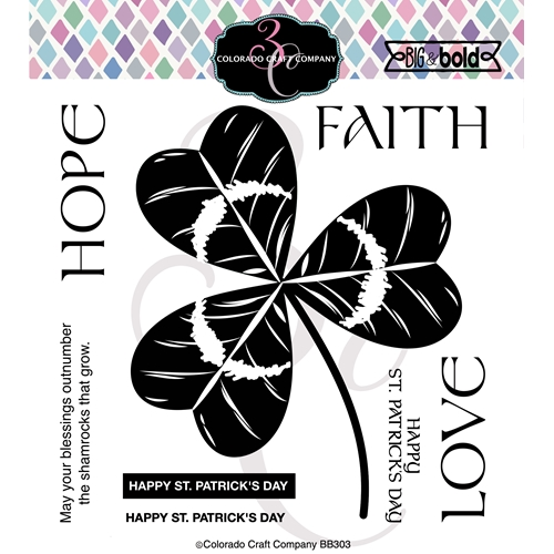 Colorado Craft Company Big and Bold SHAMROCK TRINITY Clear Stamps BB303 Preview Image