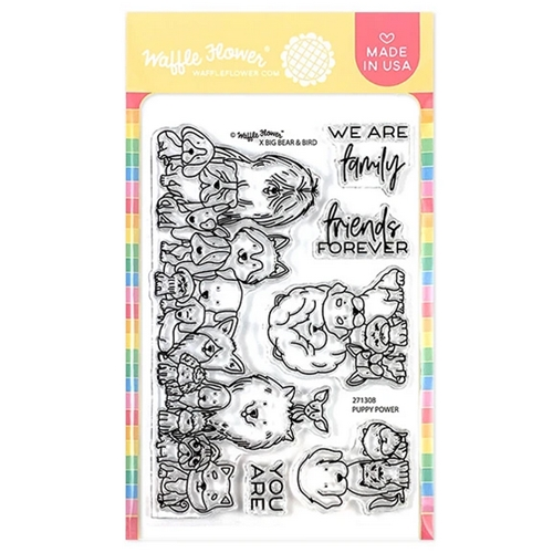 Waffle Flower PUPPY POWER Clear Stamps 271308 Preview Image