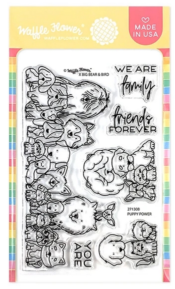 Waffle Flower PUPPY POWER Clear Stamps 271308 zoom image