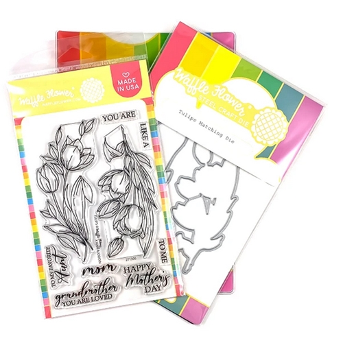Waffle Flower TULIPS Clear Stamp and Die Combo WFC306 Preview Image