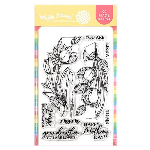 Waffle Flower TULIPS Clear Stamps 271306 Preview Image