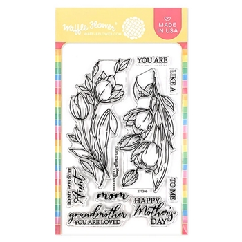 Waffle Flower TULIPS Clear Stamps 271306