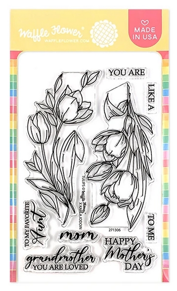 Waffle Flower TULIPS Clear Stamps 271306 zoom image