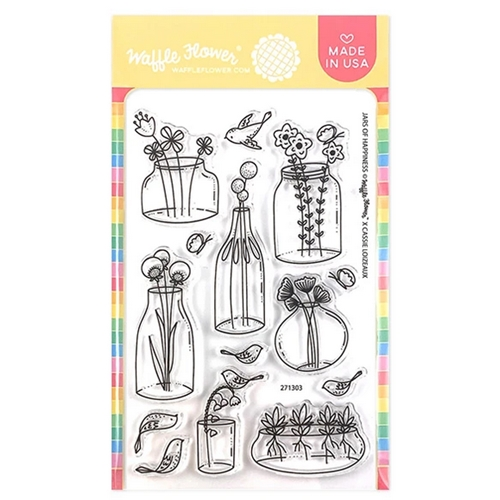 Waffle Flower JARS OF HAPPINESS Clear Stamps 271303 Preview Image