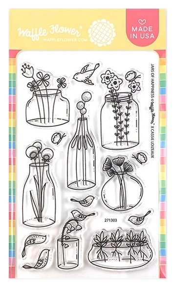 Waffle Flower JARS OF HAPPINESS Clear Stamps 271303 zoom image
