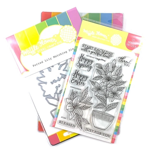 Waffle Flower POTTED LILY Clear Stamp and Die Combo WFC302 Preview Image