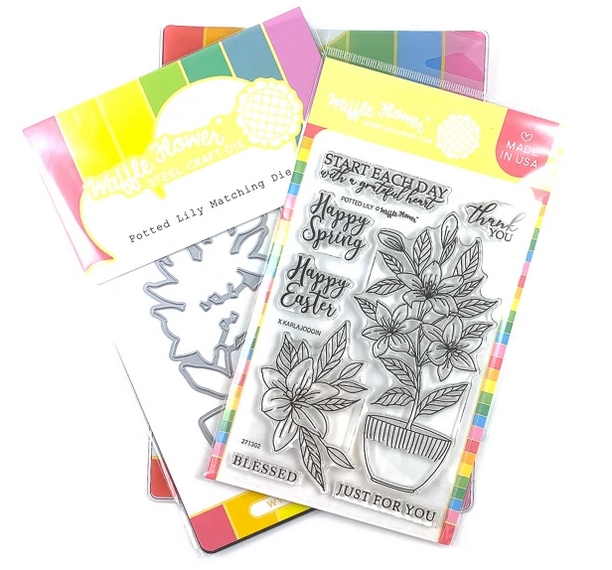 Waffle Flower POTTED LILY Clear Stamp and Die Combo WFC302 zoom image