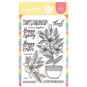Waffle Flower POTTED LILY Clear Stamps 271302